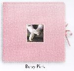 Pioneer SBX-12BP Baby Pink Sewn Scrapbook Memory Photo Album Box with Ribbon Closure