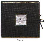 Pioneer Albums SBX-12 Black 3-Ring 12x12 Scrapbook Box with Ribbon Closure