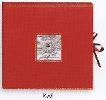Pioneer SBX-12RD Red Sewn Scrapbook Memory Photo Album Box