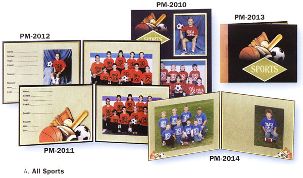 TAP Memory Mates PM-2014 All Sports Cardboard Easel Back Photo Frames