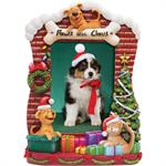 Paws for Claus Resin Molded Christmas Picture Frame