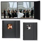 TAP Valencia Simulated Leather Peel & Stick Professional Wedding Albums with Magnetic Closure