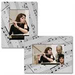 "Paper Frame Musical Easel for 4""x6"", 6""x4"", 5""x7"", or 7""x5"" Digital Photos"