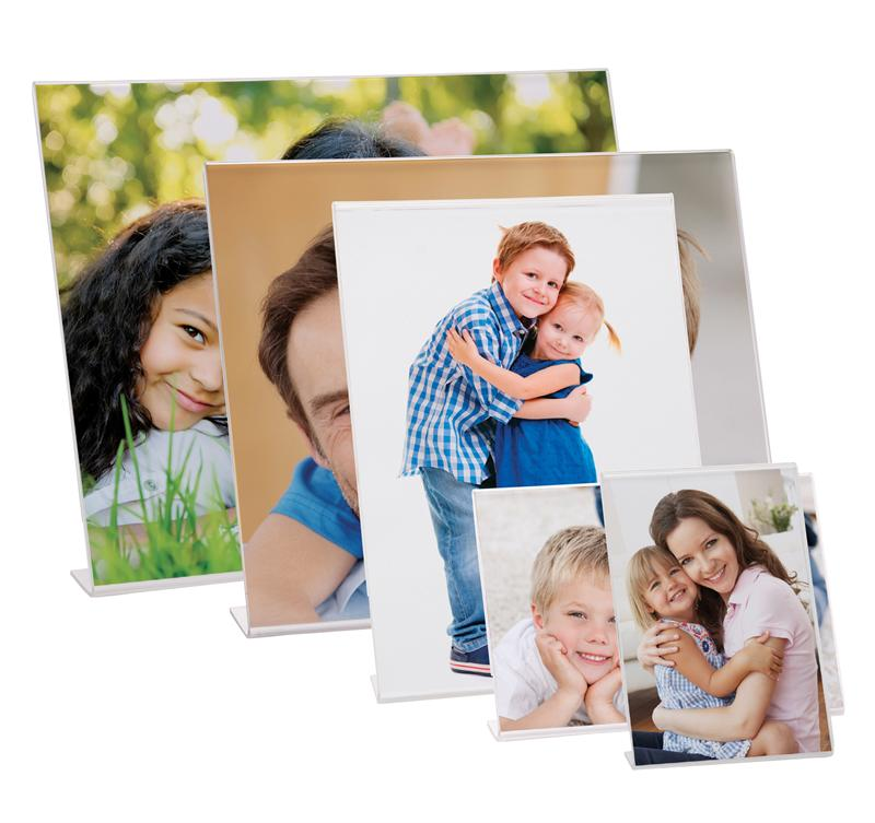 Plastic Glasses Frame Bent : The acrylic bent easel photo frames come in 15 different ...