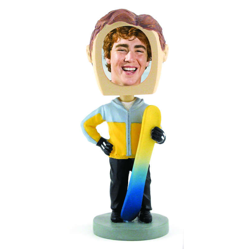 Bobbleheads Snowboarder Sports Photos Novelty Picture