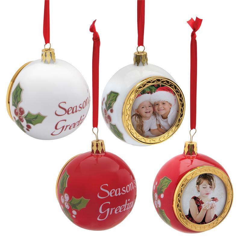 Porcelain Christmas Holiday Photo Ornament,Christmas Tree ...