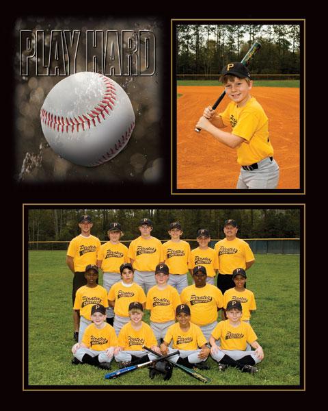 Tap Playhard Baseball Easel Memory Mate Cardboard Picture