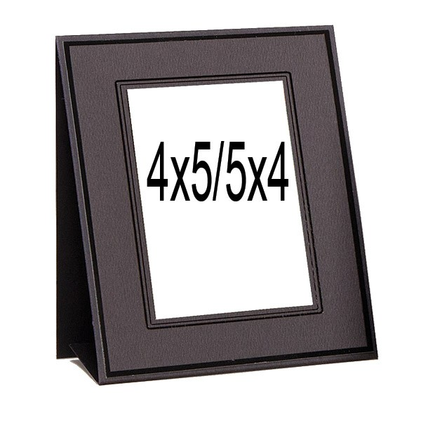 8x10 Wedding Albums: TAP Easels Ebony-Ebony Professional Cardboard Photo