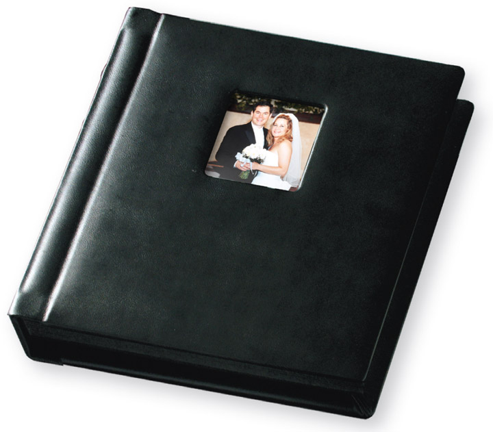 Buy Wholesale TAP Allure With Square Window Black Genuine Leather Professional Wedding Photo