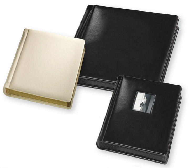 8x10 Wedding Albums: TAP Wedding Albums Bella Library-Bound Slip-In Simulated