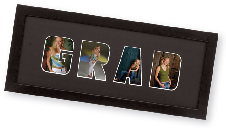 Tap Senior Commencement Graduation Frame Black Wooden Pre