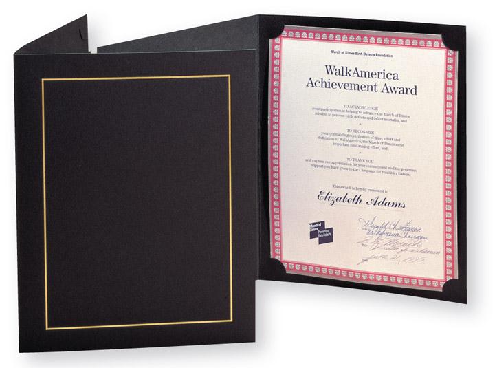 Paper Certificate Holders Certificate Holders