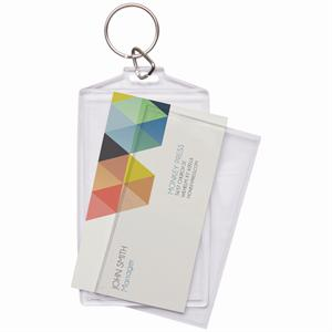 Business card keychainbusiness card keychain holderbusiness card make your own business card holder key chain 936 reheart Image collections