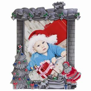 christmas resin pewter picture frame for 3 12