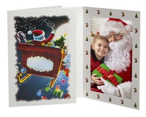 tap santa folder sleigh christmas 4x6 or 5x7 photos