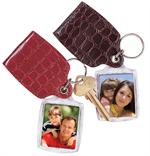 Photo Keychains with Leather-Like Pouch #760
