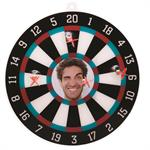 Photo Dartboard with Suction Cup Darts for Personalized Custom Pictures