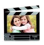 Movie Theme Clapboard Photo Magnet 3-1/2