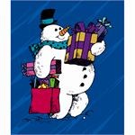 Frosty the Snowman 4x6 Professional Cardboard Photo Mount