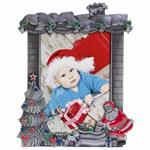 Christmas Resin Pewter Picture Frame for 3-1/2