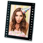 Black Acrylic Film Strip Movie Themed Photo Frame 2.5