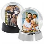 Mini Photo Snowglobes with Black or Silver Base #2718