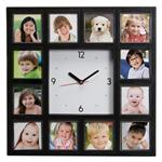 Personalized 12 Multiple Picture Wall Clock for Kids and Family