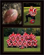 TAP Football Play Hard Memor Mate Easel for 7x5 and 3-1/2x5 Digital Prints