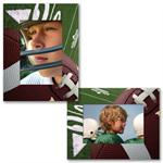 Football PF-3217 Paper Frame 4x6 or 6x4 Photo Easel