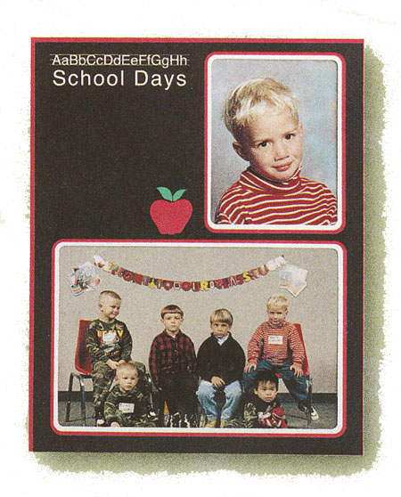 TAP School Days Cardboard Picture Frame