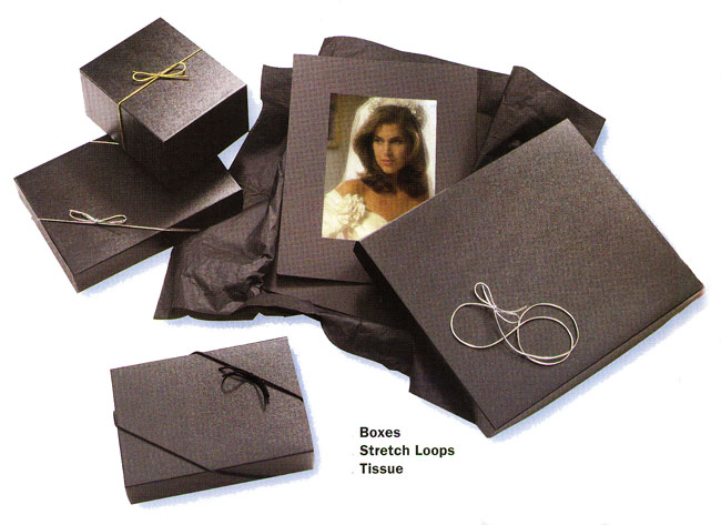 Renaissance Black Silver Gold Stretch Loops for Presentation Boxes from meritalbums.com
