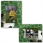 "Paper Frame Soccer Sports Easel for 4""x6"", 6""x4"", 5""x7"", or 7""x5"" Digital Photos"