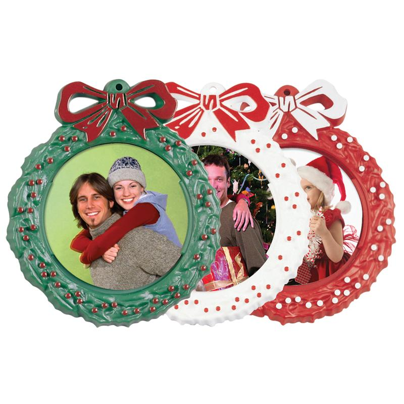 Christmas Tree Photo Holder Wreath 2 14 Picture Ornaments 2039
