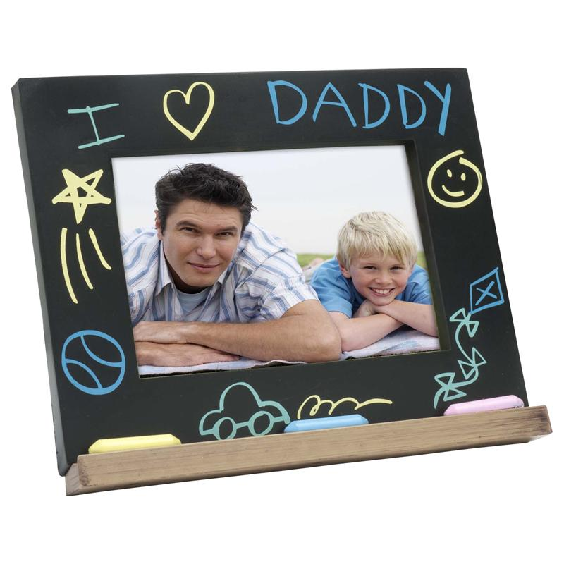Fathers Day Gift I Love Daddy Chalk Board Picture Frames For 6x4