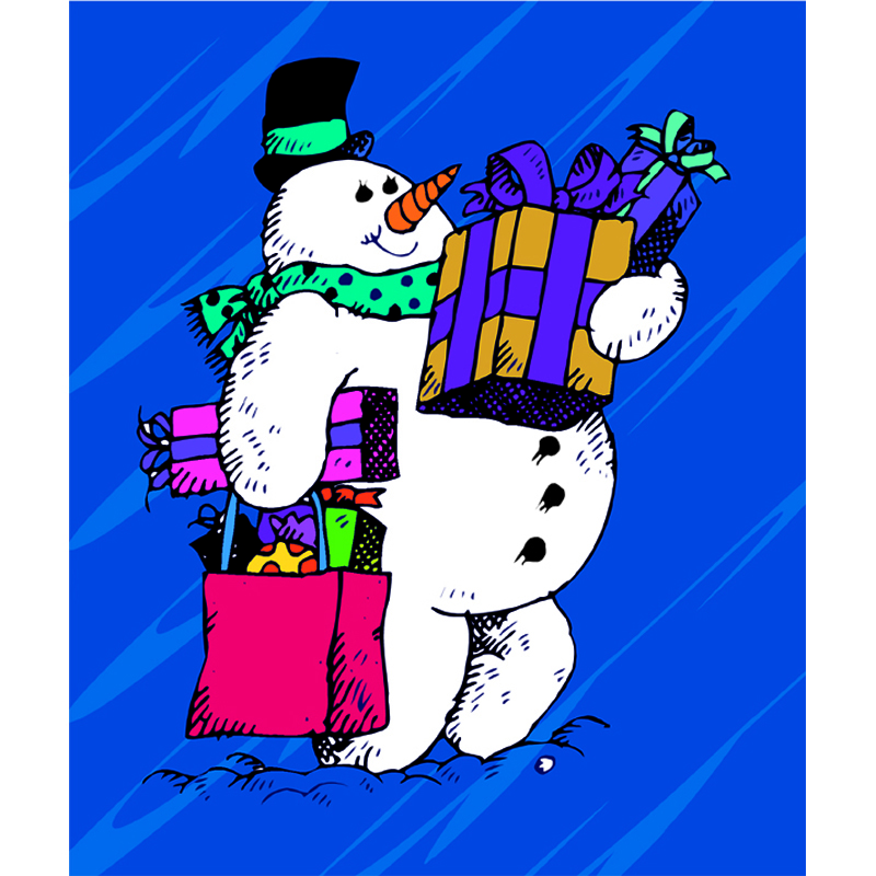 Frosty The Snowman Christmas Holiday Paper Frames 4x6 Vertical Photo