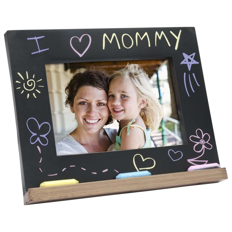 Mothers Day Gift I Love Mommy Chalk Board Picture Frame For 6x4