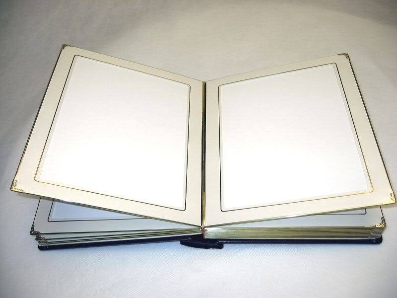 Slip in wedding photo album for 8x10 pictures burgundy cover