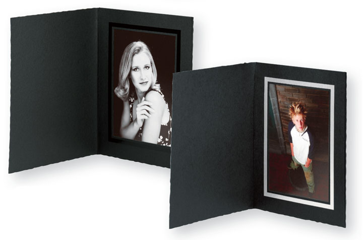 Tap Photo Folders Juniper Ebony Ebony Cardboard Picture Frames For