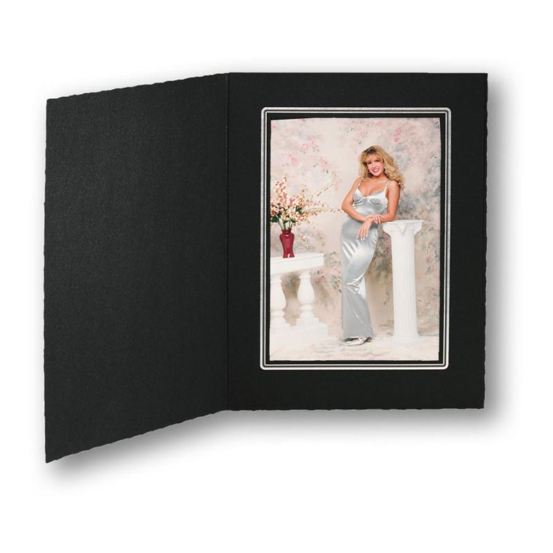 Tap Folders Cal Ebony Silver Cardboard Picture Frames And