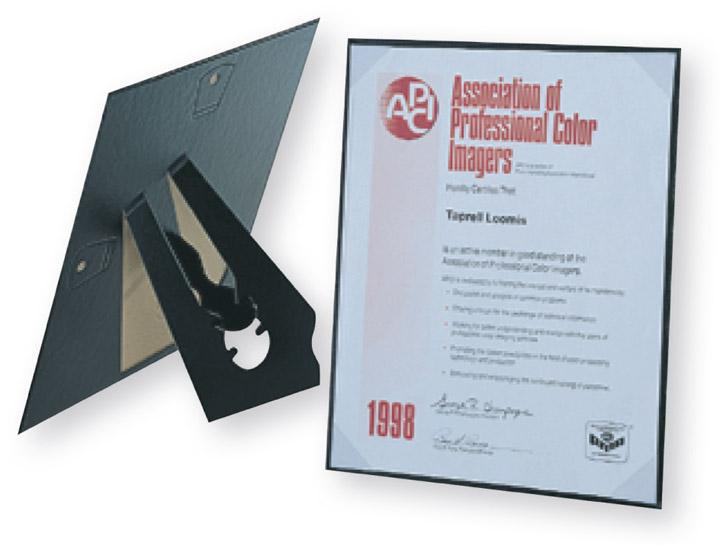 Tap Easels Carson Certificate Holders Cardboard Award