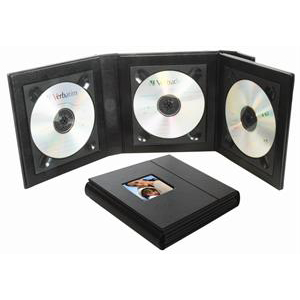 Triple or Quad CD DVD Album Holder with Magnetic Closure