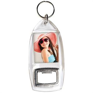 Create-Your-Own Custom Bottle Opener Photo Keychain #762 ( Case of 100 )