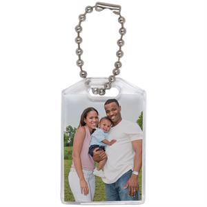 Promotional Photo Keychain with Beaded Chain #775