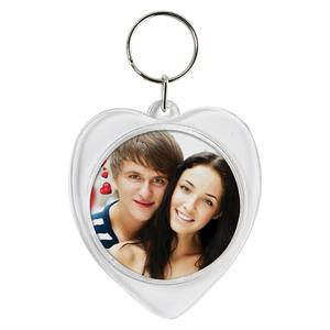 Personalized Photo Heart Keychain Wholesale Case #876