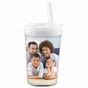 8 oz. Child's Tumbler with Twist Top and Everlasting Straw