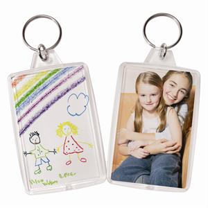 Clear Standard Snap-In Photo Keychains with 1-3/4