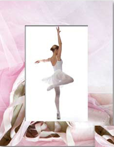 Ballet Dance Picture Frames Pilates Studio 4x6 or 5x7 Dancing Photos