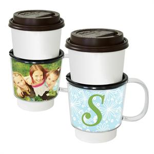 Create Your Own Custom Coffee Sleeve with Handle &Tapered 10-1/2