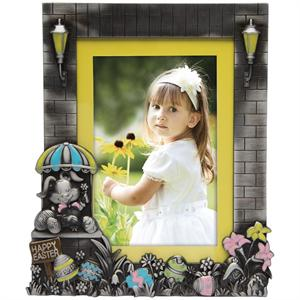 Easter Pewter Picture Frame with Eggs for 4x6 or 5x7 Photos