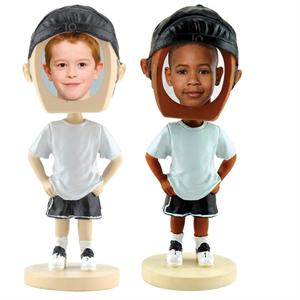 Hip Hop Boy Bobblehead with Photo Insert